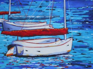 Dreese boat painting no knots 36x48