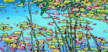 dreese waterlilies 24 x 48