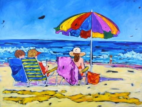 beachgoers 36x48