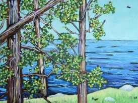 diptych overlooking lake michigan dreese 1