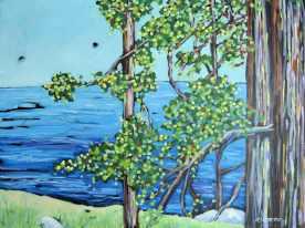 diptych overlooking lake michigan dreese 2