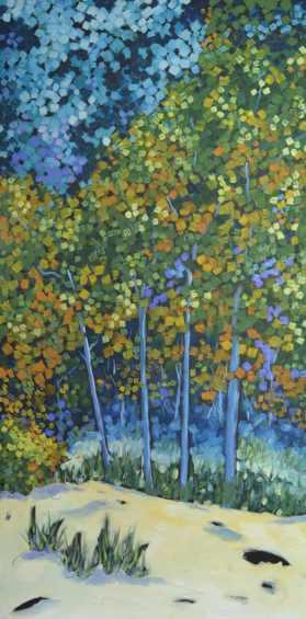 Dreese Autumn Beach Trees 24x48