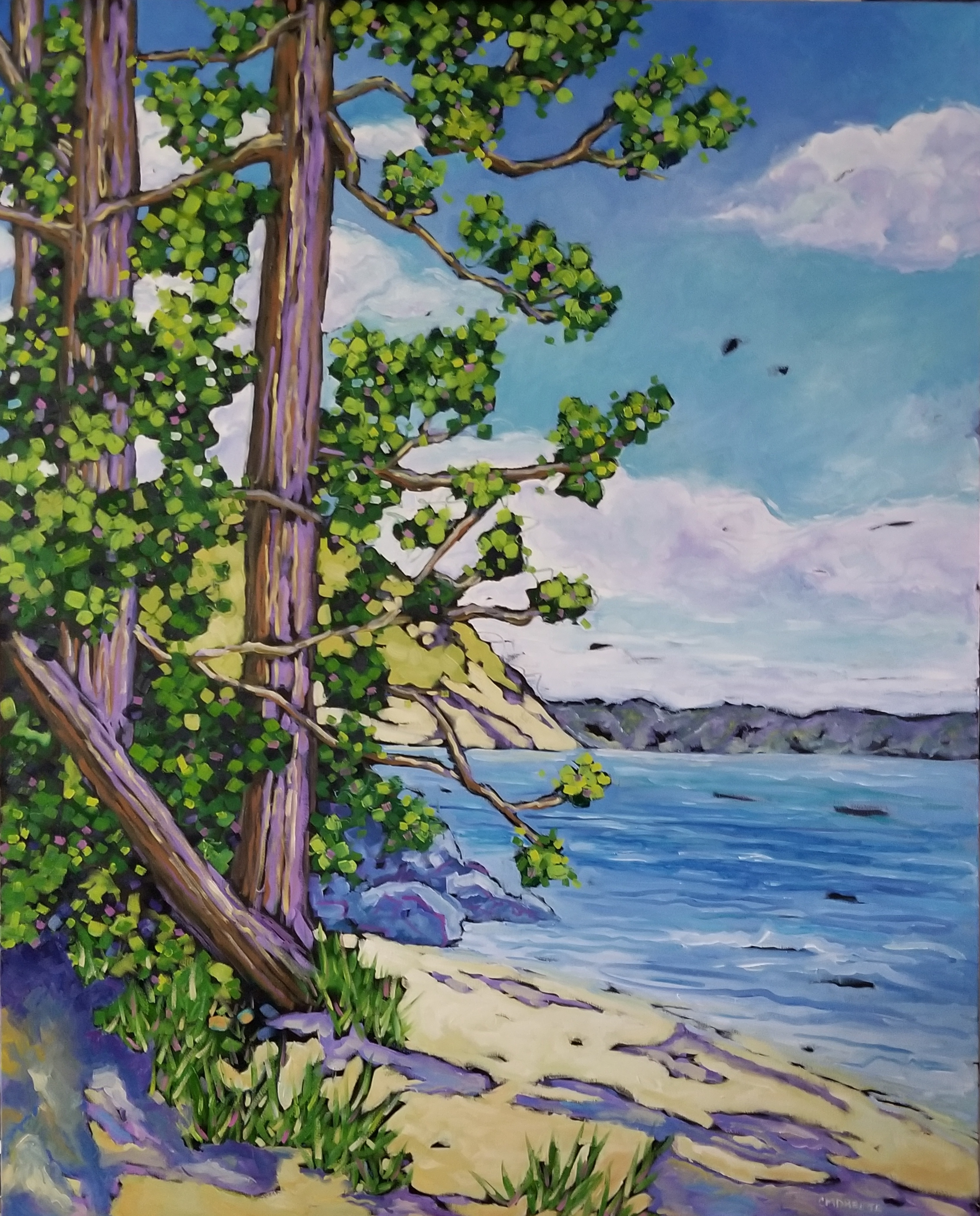 christi dreese Long Walks on the Beach oil painting 47x58
